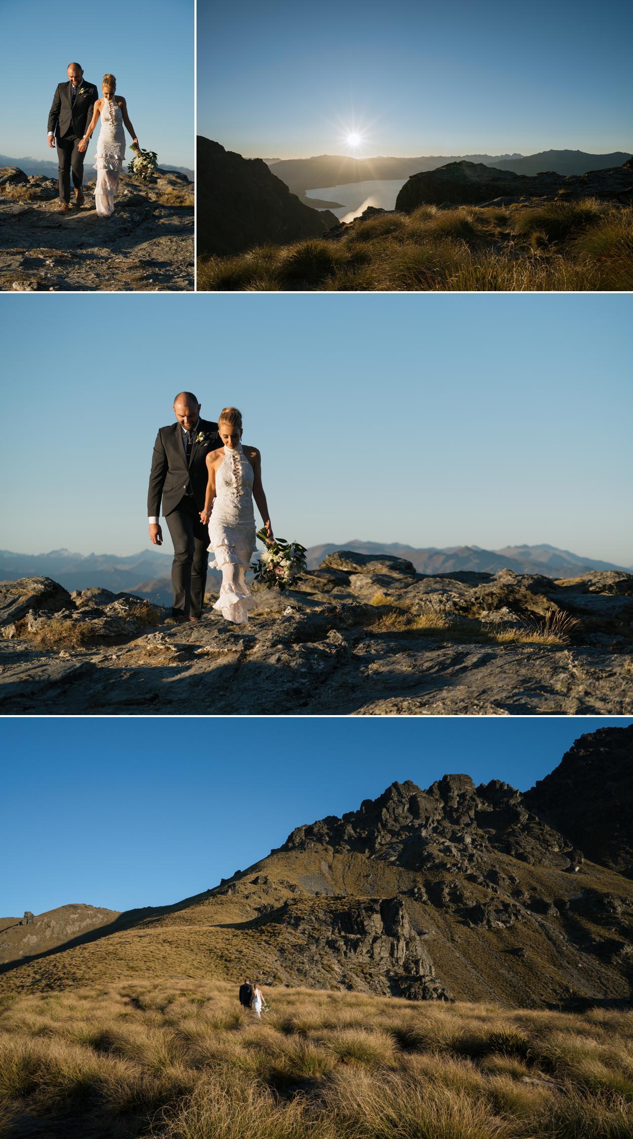 sunset mountain wedding photographer