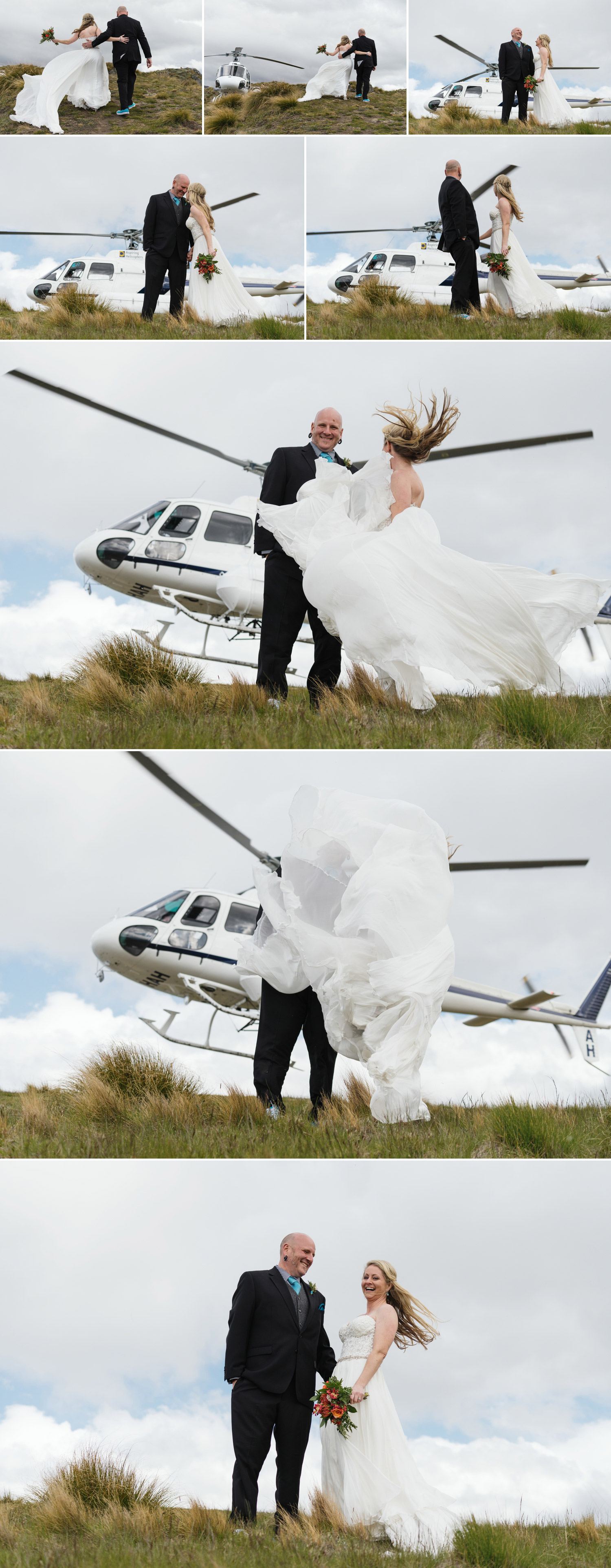 heli wedding wanaka