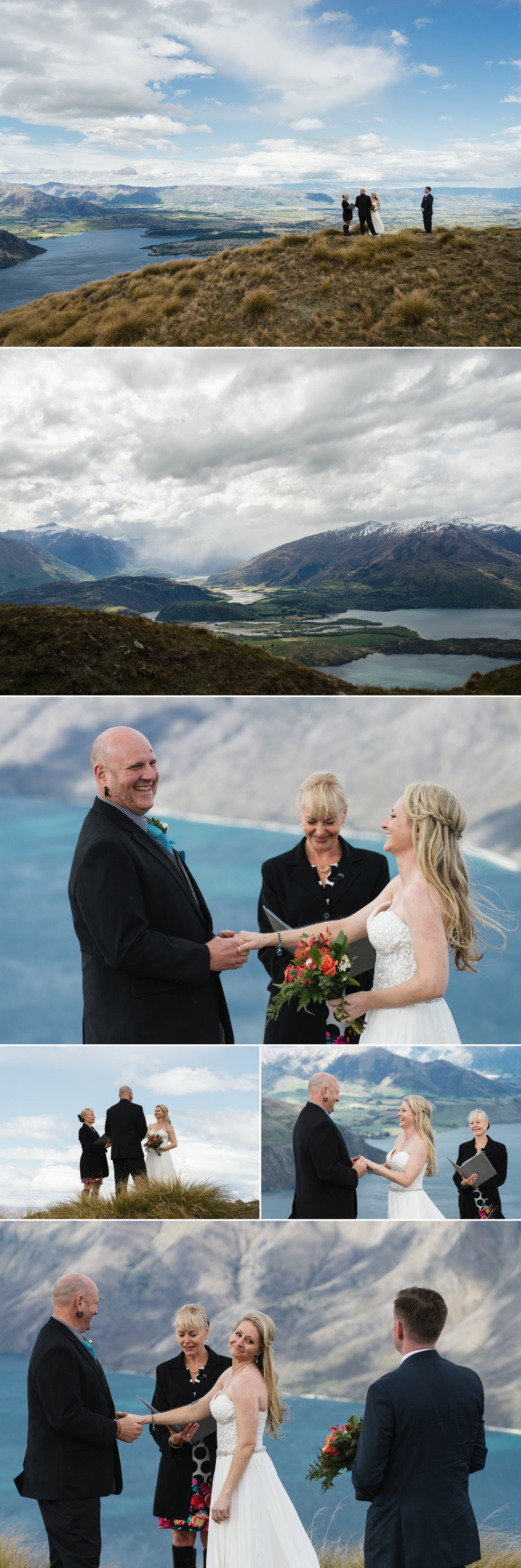 new zealand mountain elopement