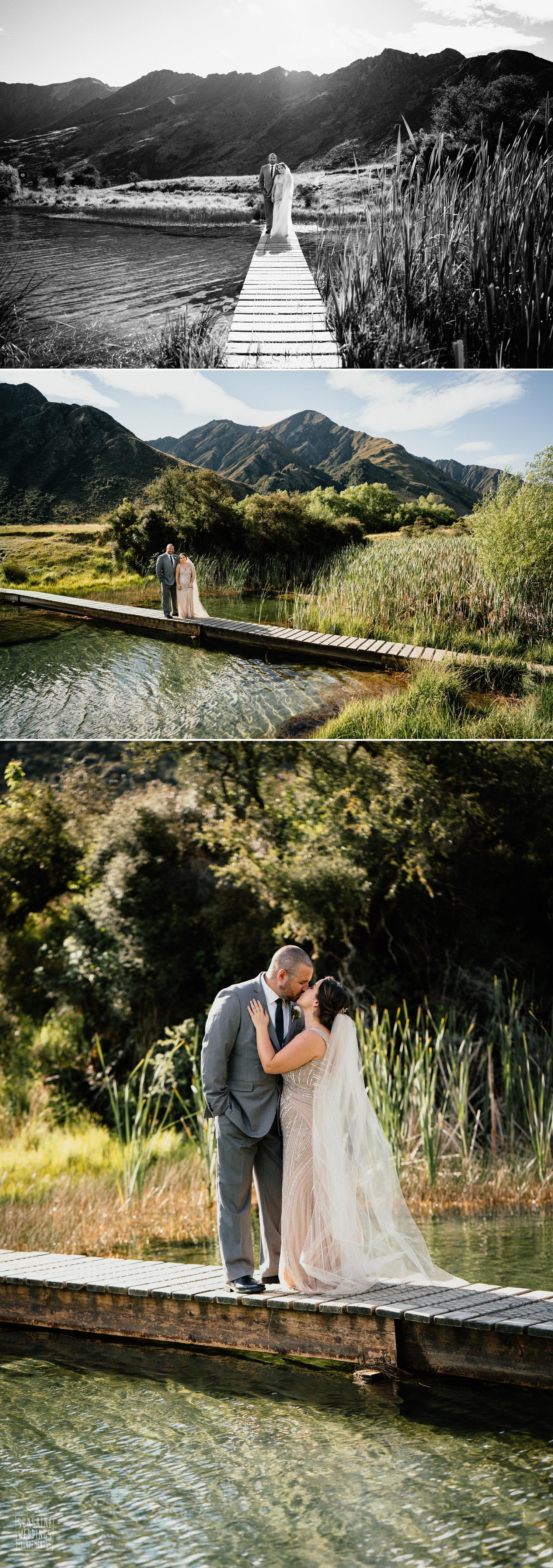 Lake wedding Queenstown New Zealand