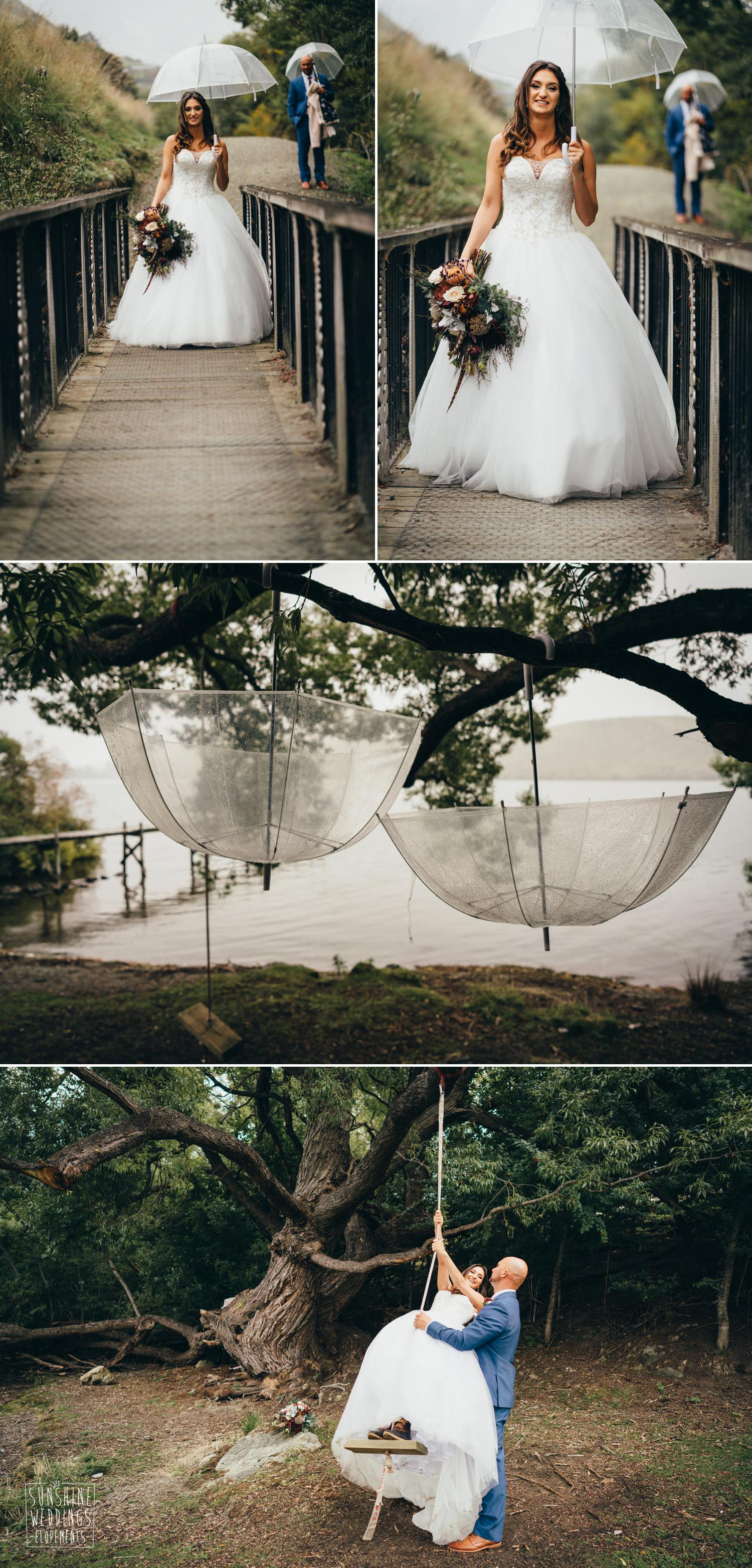 Rain Queenstown wedding