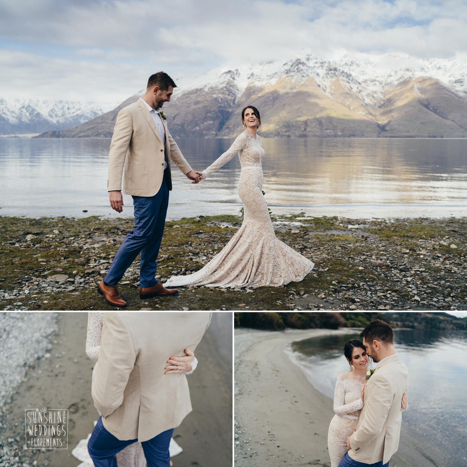 Winter wedding lake Wakatipu
